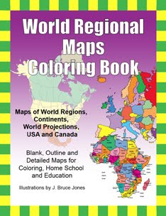 FREE PDF World Regional Maps Coloring Book