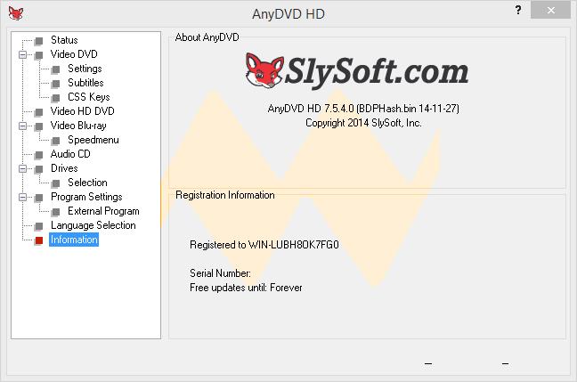 AnyDVD HD 7.5.4