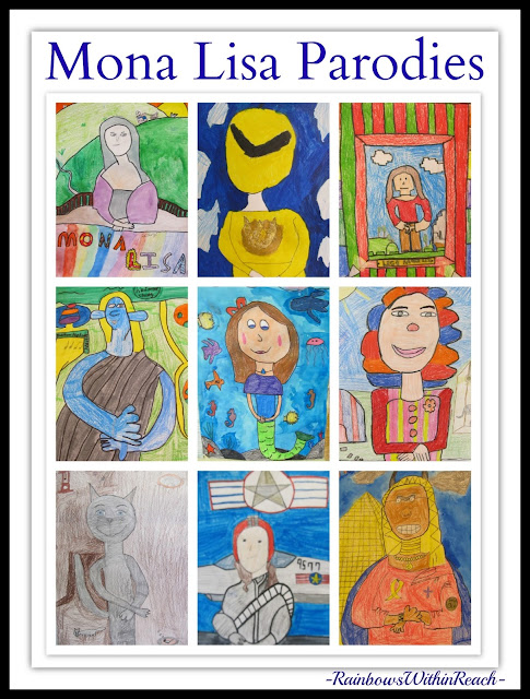 Mona Lisa Parodies via RainbowsWithinReach