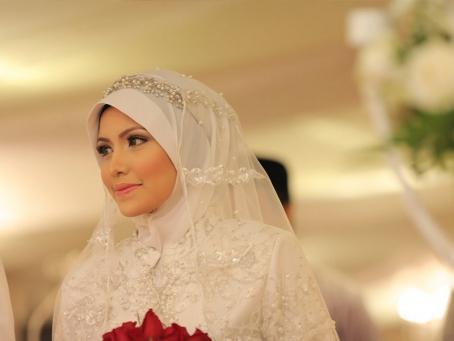 Simple Wedding Hijab