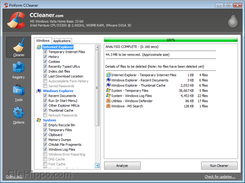 Ccleaner update will not download