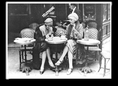 meninas dos anos vinte em Paris