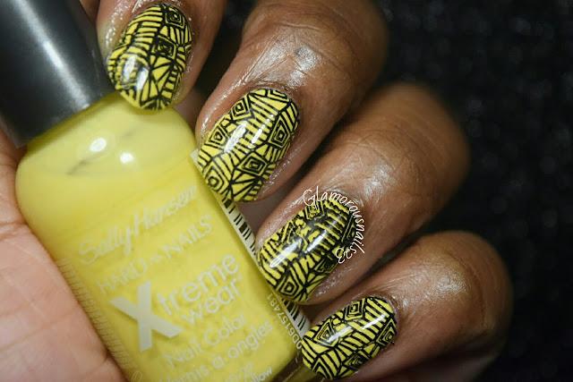 Funking Shapes Stamping Nail Art