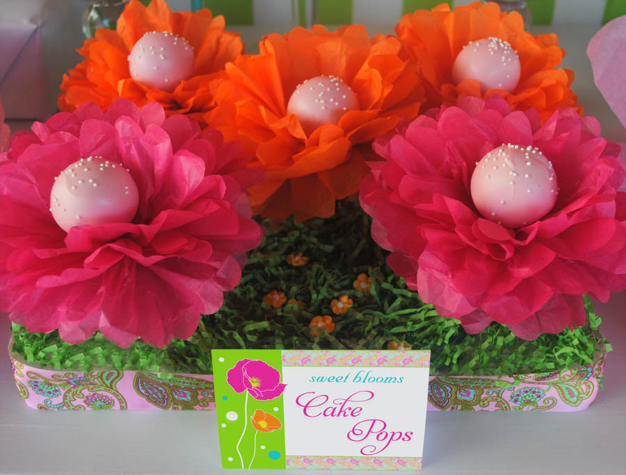 Tissue paper flowers for cake pops mightylinksfo Image collections