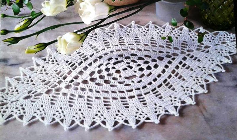 Patrones crochet for Centro de mesa a crochet