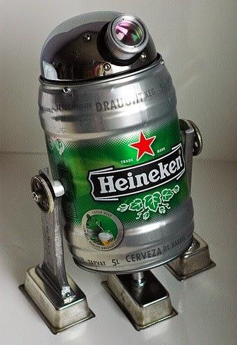R2-D2 barril de Heineken - vista derecha