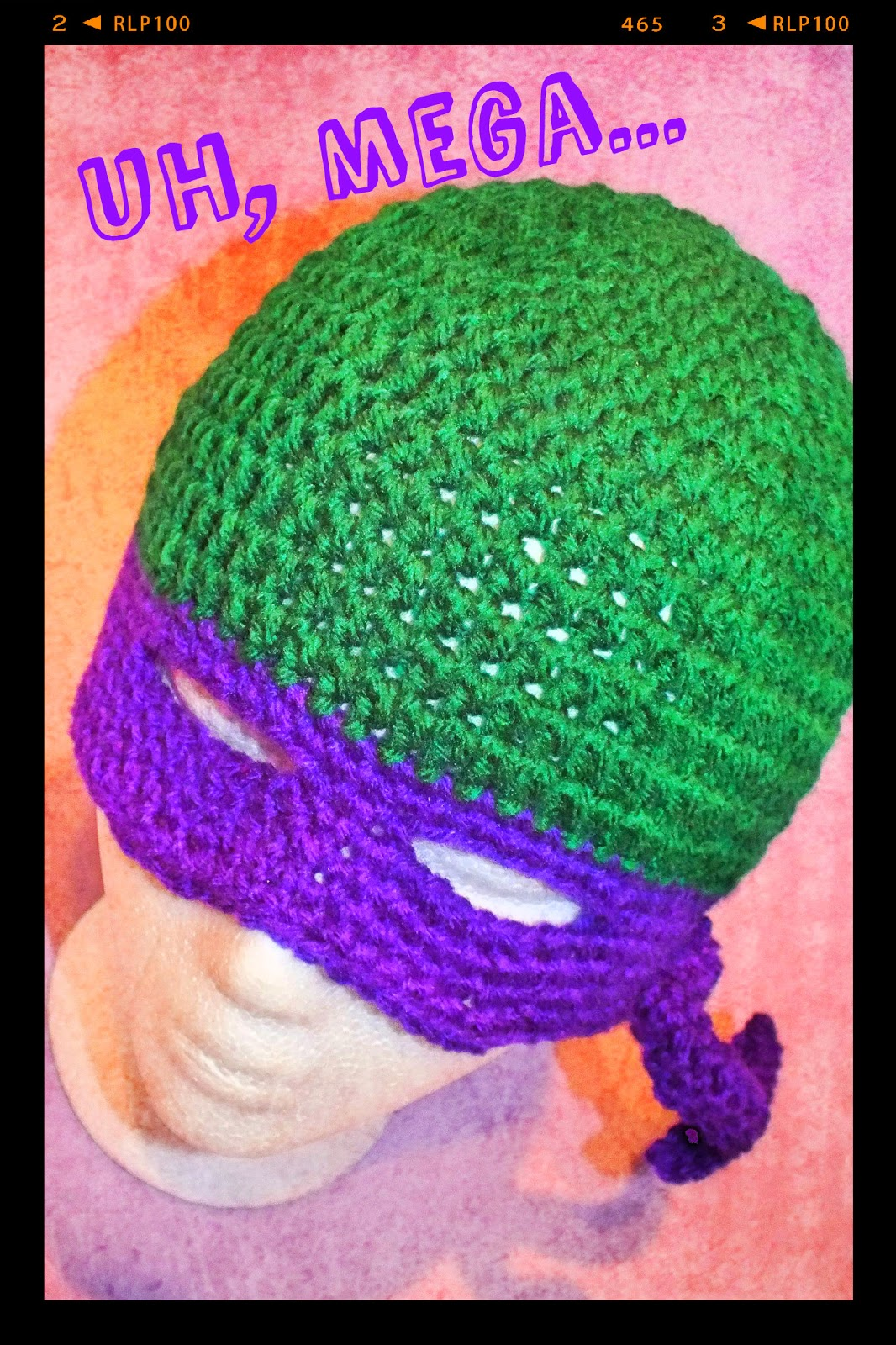 Free Crochet Patterns For Ninja Turtle Hat : Connies Spot? Crocheting, Crafting, Creating!: Free Ninja ...