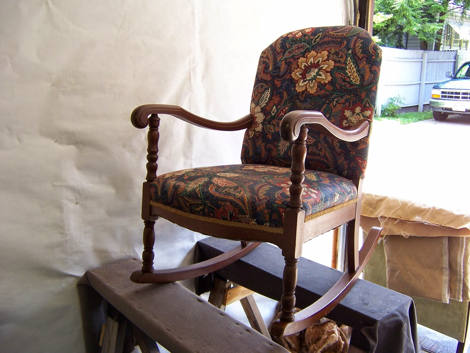 Raders Upholstery Old Rocking Chair