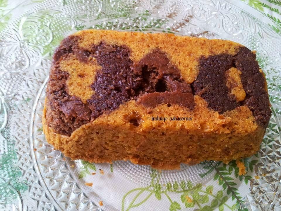 Eggless Whole Wheat Mango Cake-