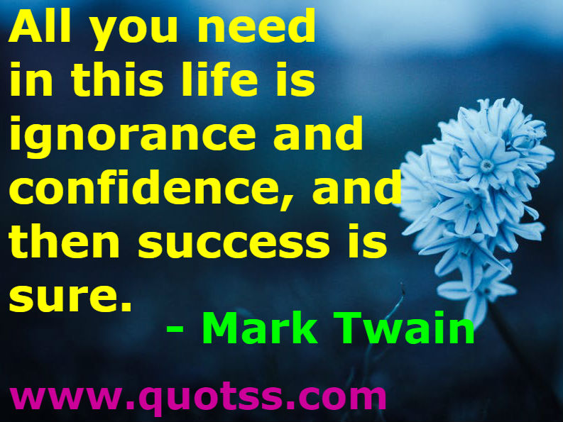 Mark Twain Quote on Quotss