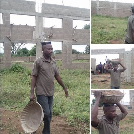 Kwara Lecturer Turns Labourer over Non-Payment of Salary (Photos)