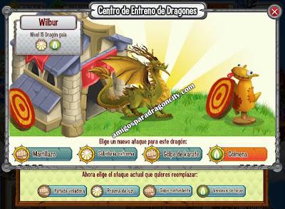 imagen de los ataques del dragon gaia