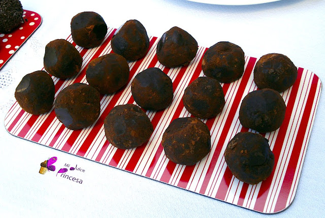 trufas, chocolate, trufas de chocolate