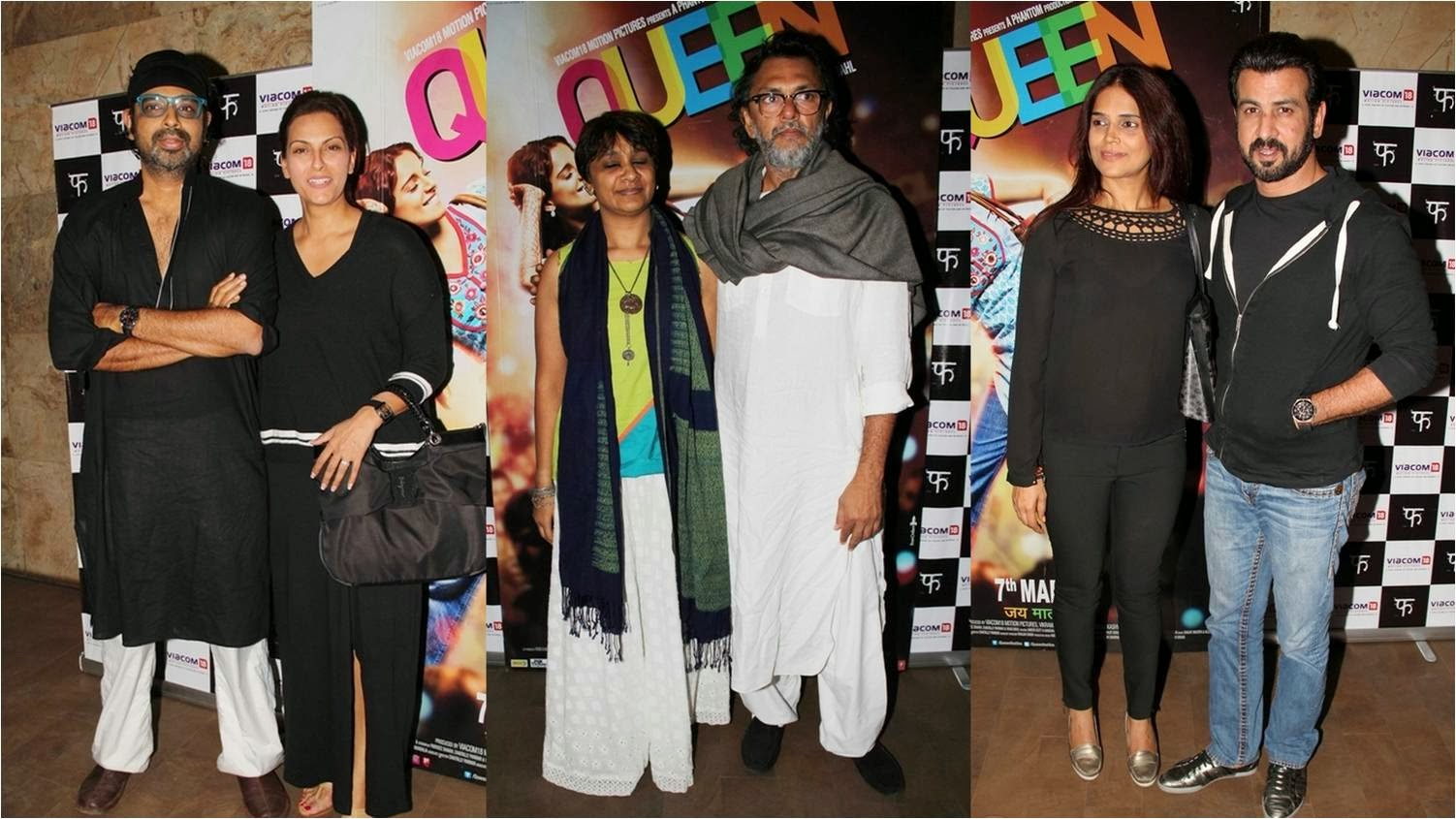 Celebrities on screening of Kangana starer Queen movie at Light Box Theatre