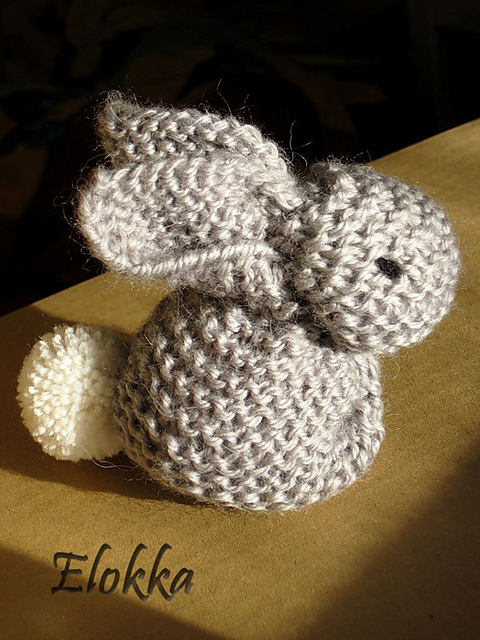 How to Knit a Cute Bunny From a Square