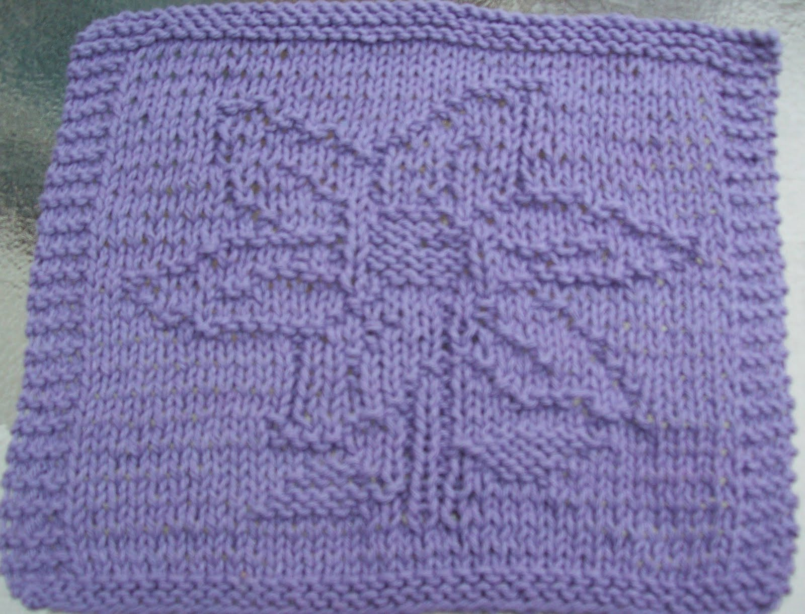 Digknitty Designs Flower Too Knit Dishcloth Pattern