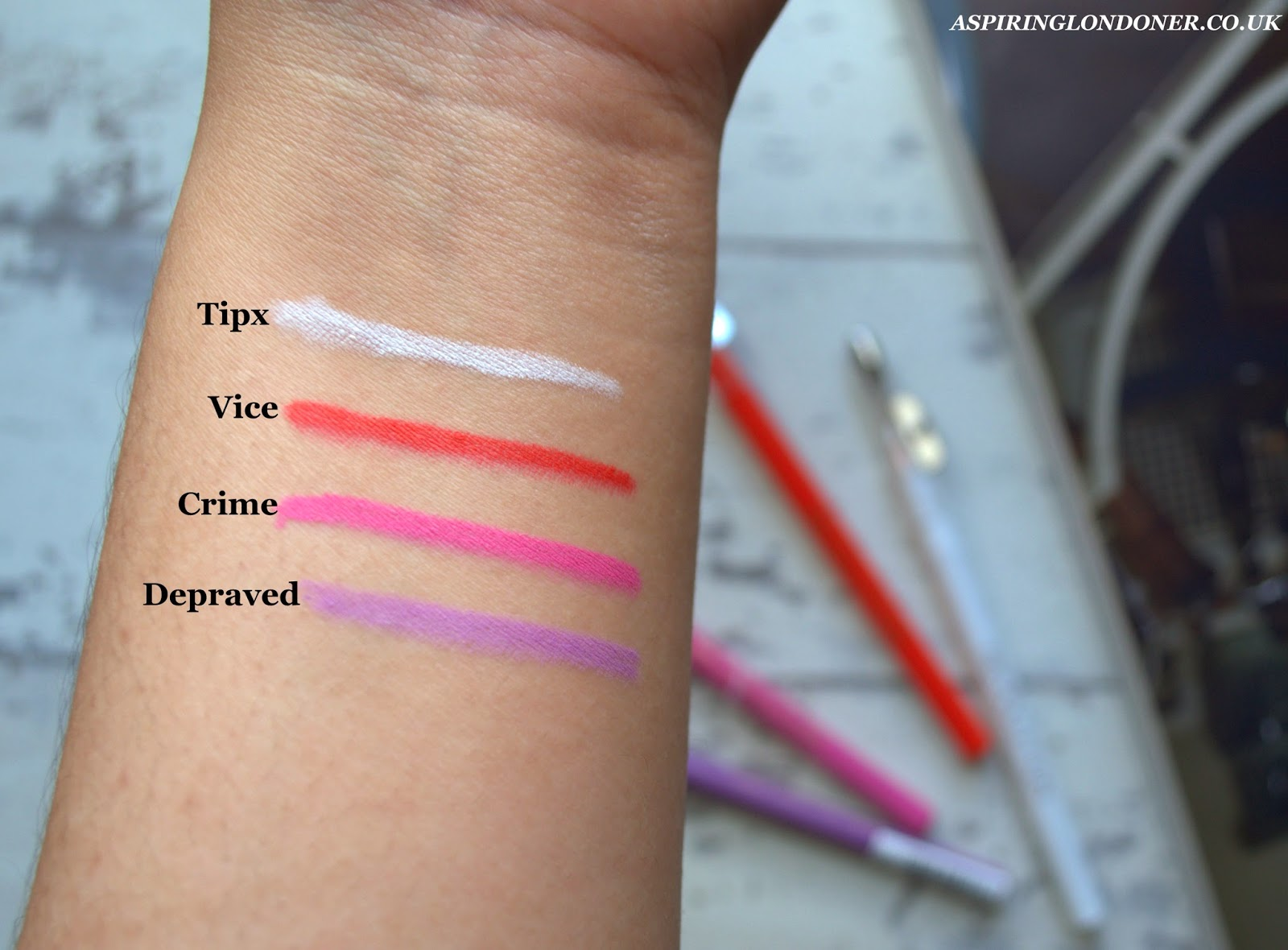 Makeup Revolution Hypocrisy Eyeliner Swatches - Aspiring Londoner