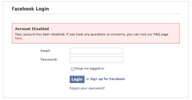 إسترجاع حساب فيسبوك تم تعطيله او إيقافه