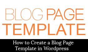 Blog page wordpress template