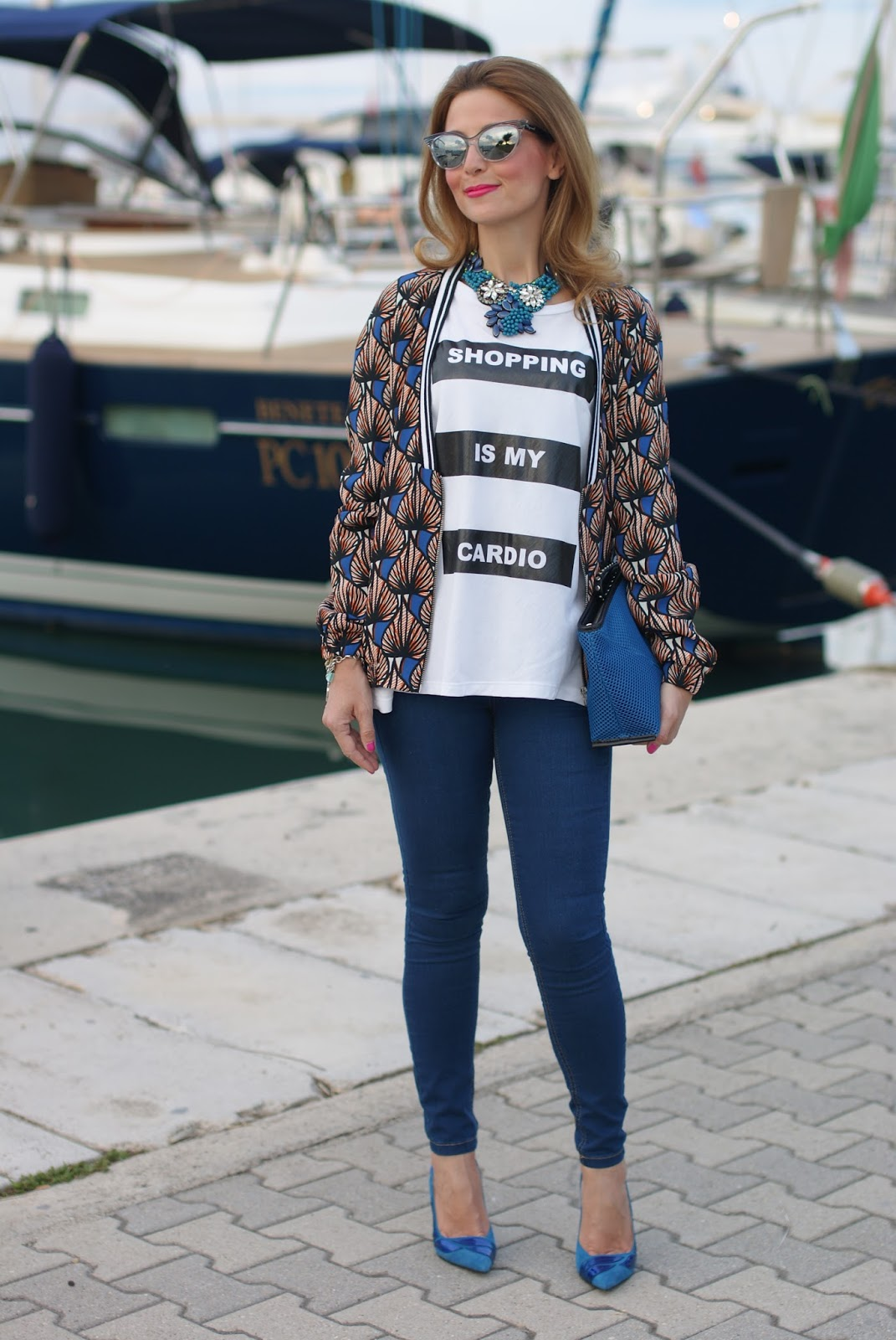 Pimkie ethnic jacket, Zara jeggings and Nando Muzi slingbacks on Fashion and Cookies fashion blog