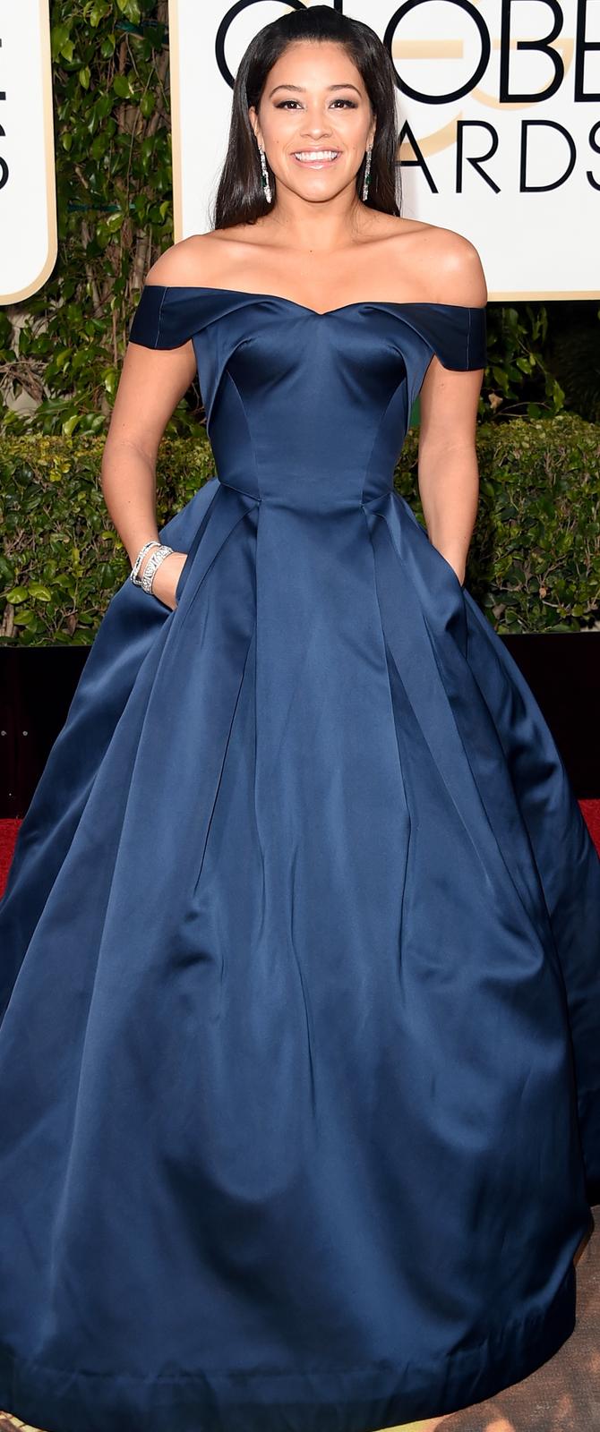 Gina Rodriguez 2016 Golden Globes