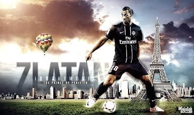 Zlatan Ibrahimovic - PSG - Wallpaper Sepakbola Terbaru 2012-2013
