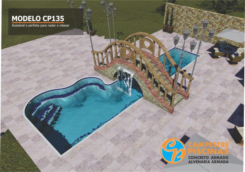 Campestre piscinas e paisagismo for Modelos de piscinas campestres