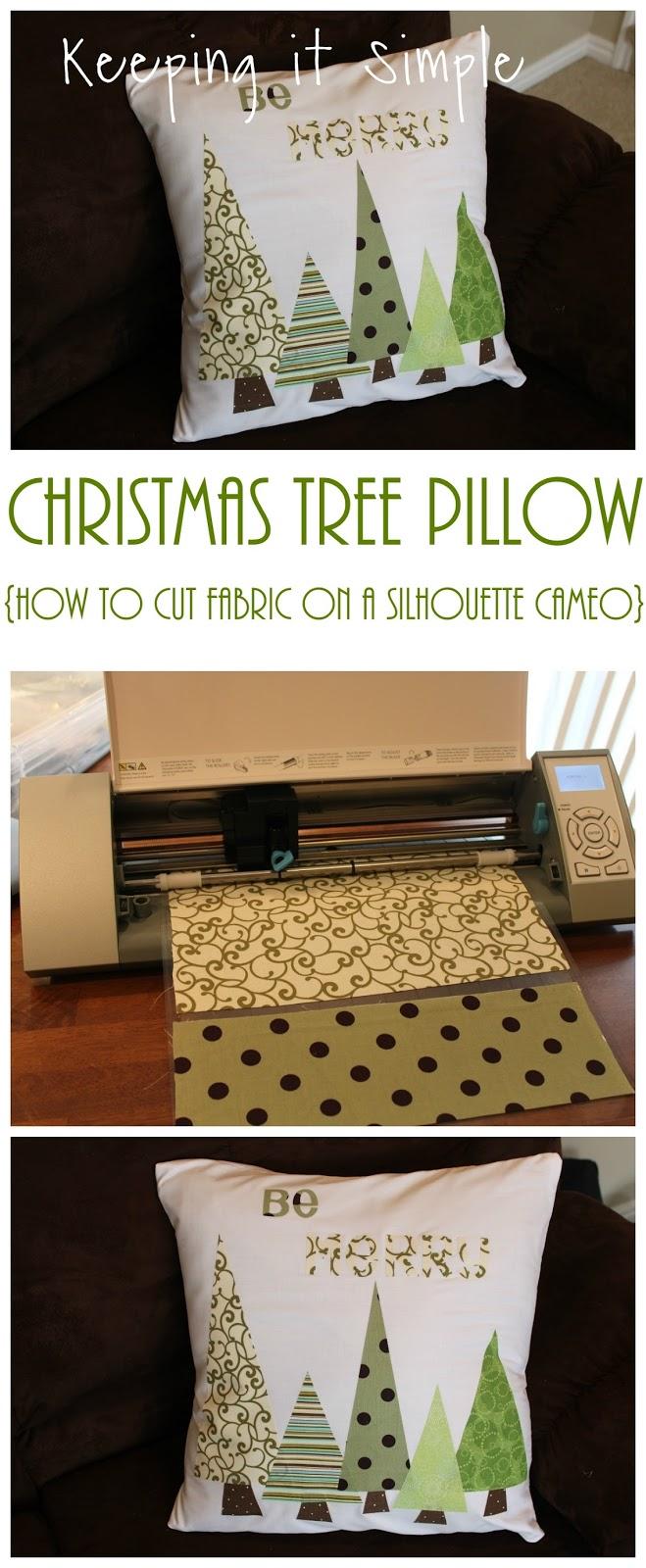 Silhouette Cameo 101 Fabric Interfacing Christmas Tree