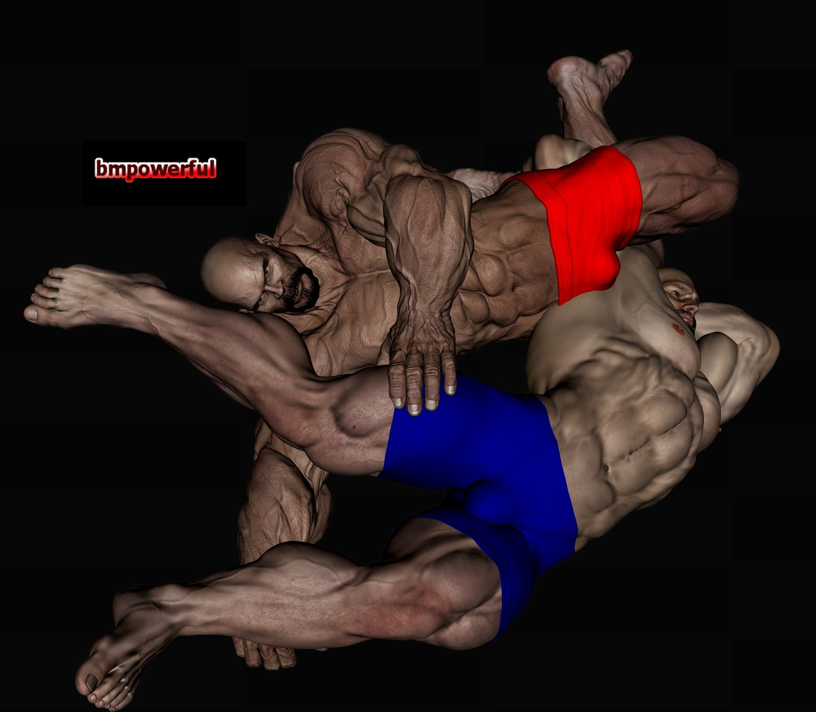bodybuilder wrestling gay