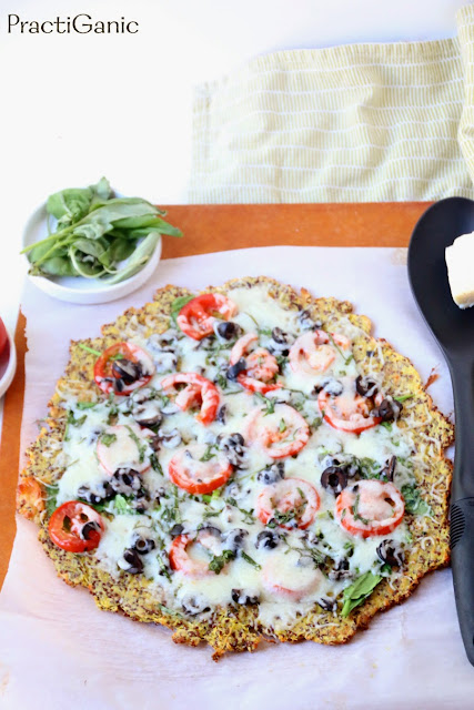 Crispy Spaghetti Squash and Quinoa Pizza Crust