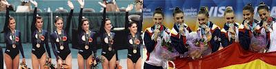 Equipos españoles gimnasia rítmica Atlanta 96 y 2012