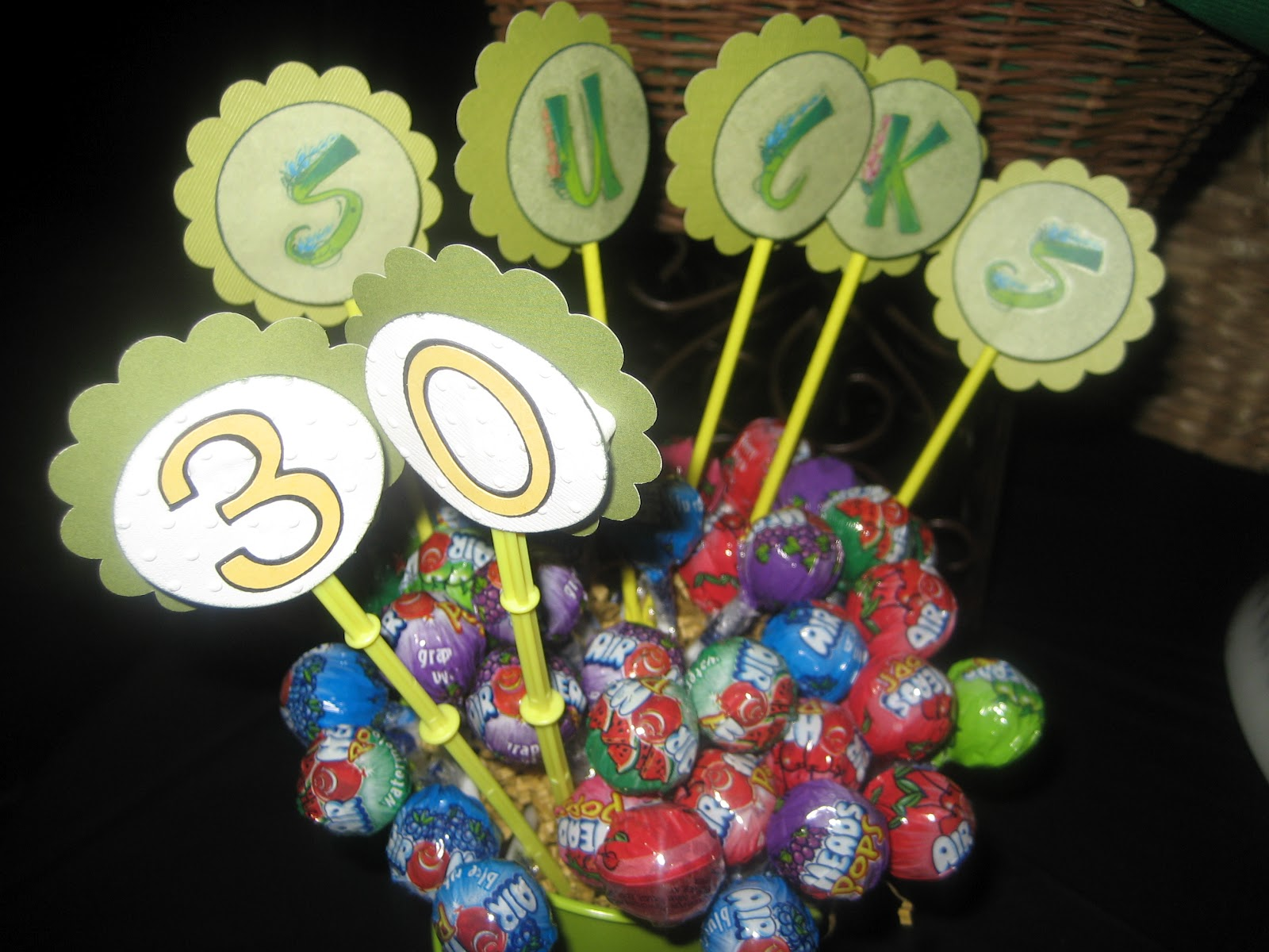 Cooking with jilly golf themed 30th birthday party for 30th birthday party decoration ideas