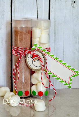 SRM Stickers Blog - Hot Chocolate Mini Tubes by Laurel - #tubes #mini #twine #labels #stickers