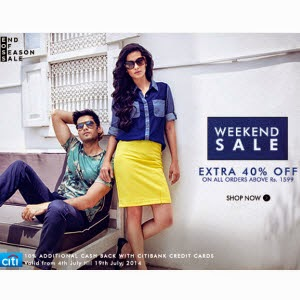 Myntra : 40% off on clothing, footwear, & Accessories {last day}