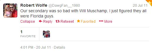Dawgfan1980+muschamp+tweet
