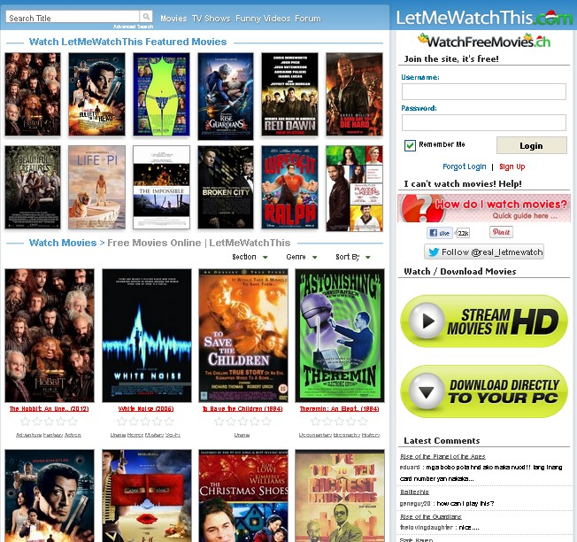 WatchFreeMovies  LetMeWatchThis  Watch Free Movies Online