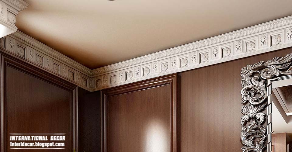 Plaster cornice top ceiling cornice and coving of for Interior cornice designs