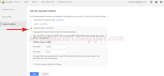 Cara Setting Pembayaran Google Adsense 4