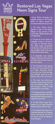 Restored Las Vegas Neon Signs Tour Map