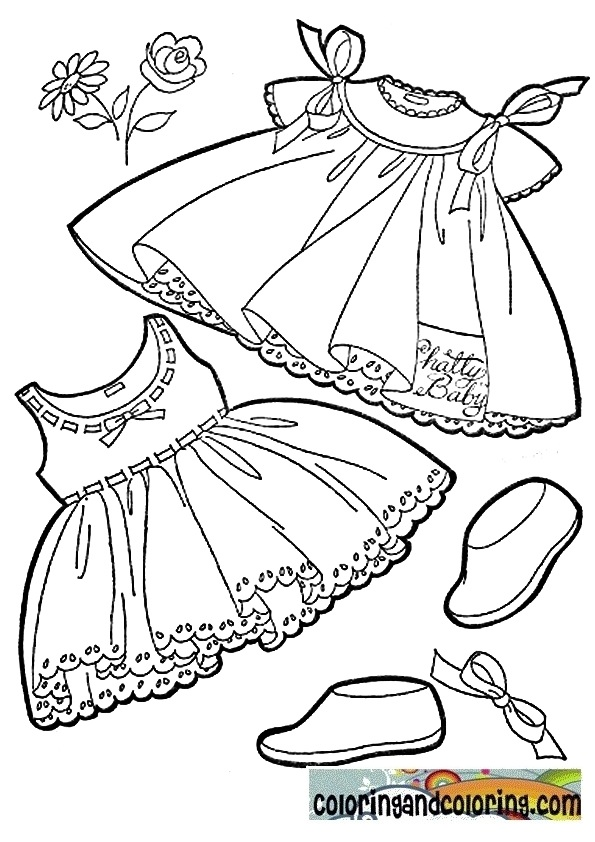 baby clotheline coloring pages - photo#33