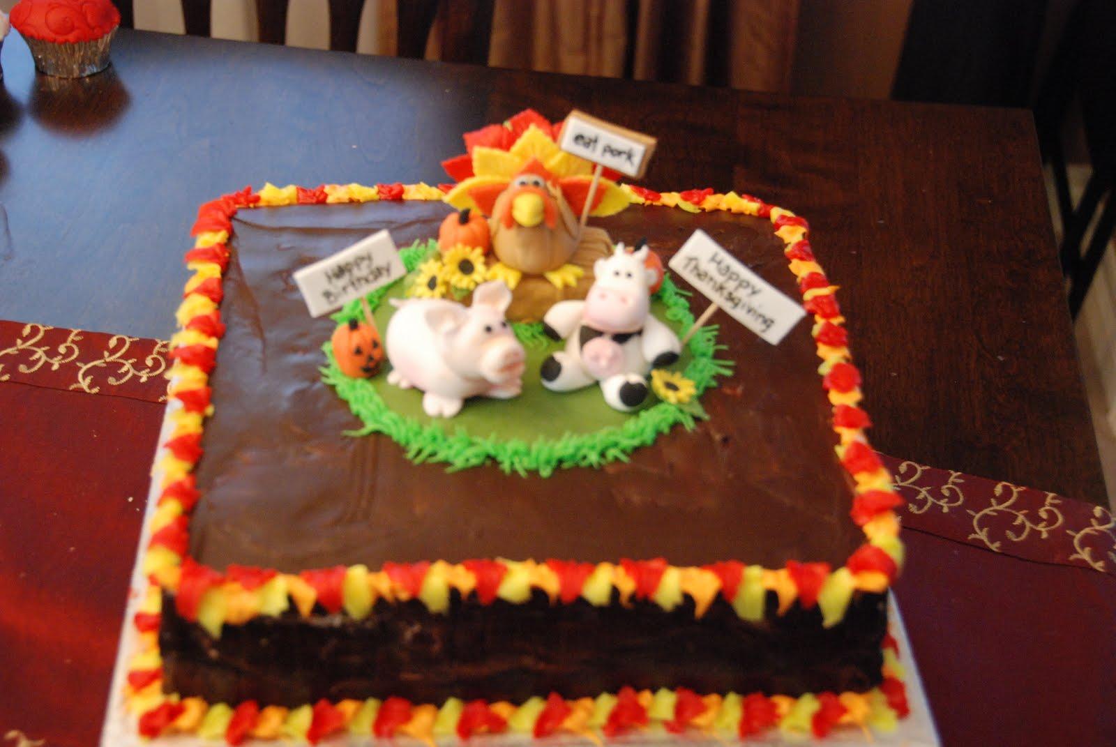 Cake Creations by Trish: Thanksgiving Birthday Cake Combo