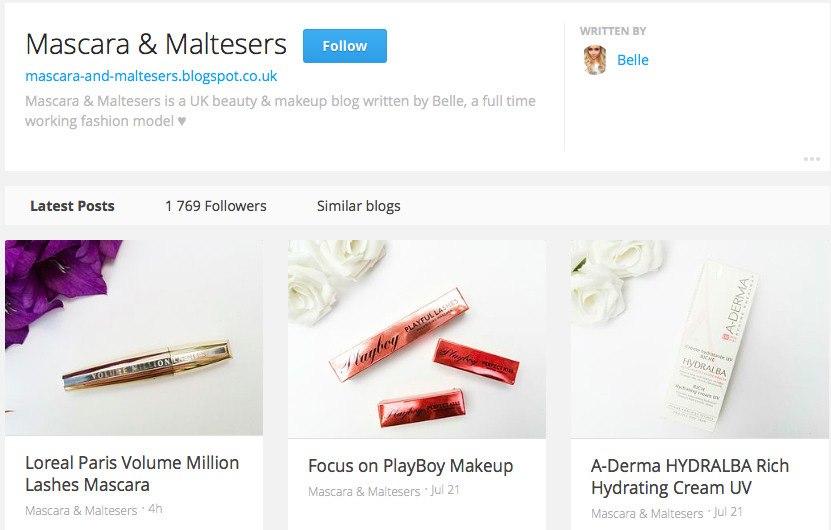 Bloglovin for Mascara & Maltesers