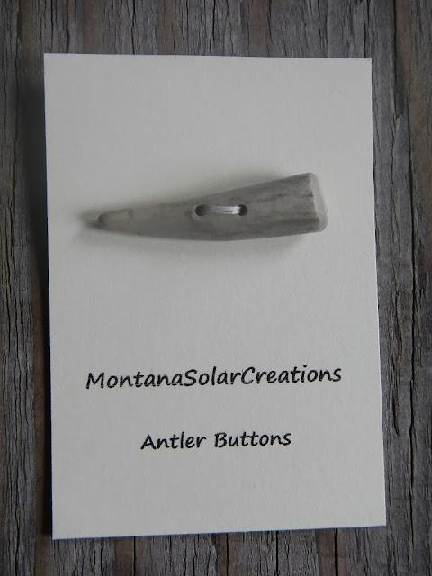 handmade montana deer antler toggle button