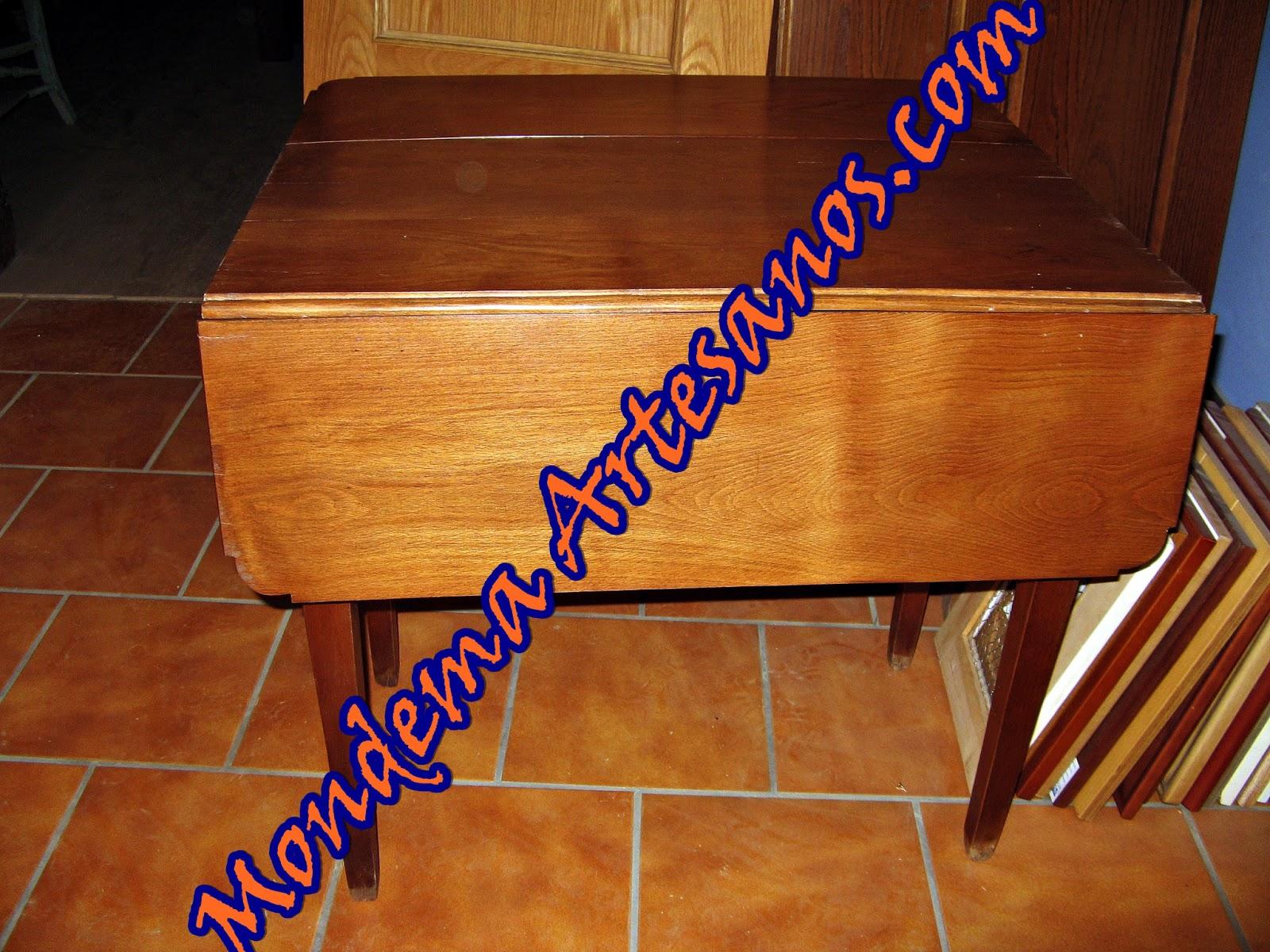 Restauracion de mesa con alas abatibles artesanos - Mesas con alas abatibles ...