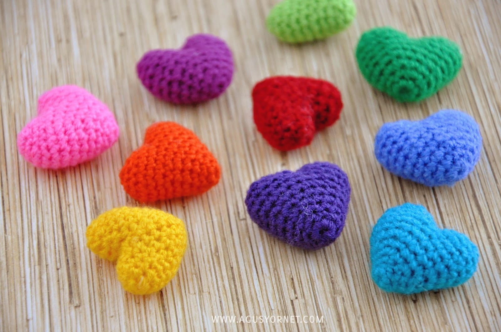 What To Crochet : ... : Corazonctios tejidos a Crochet / Crochet hearts Agus Yornet Blog