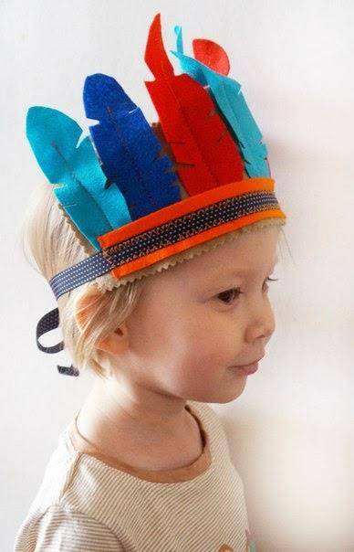 индейский перьевой головной убор