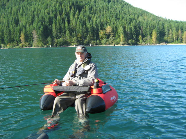 Breaking rods fly fishing for trout in the uk and the usa for Fly fishing float tube