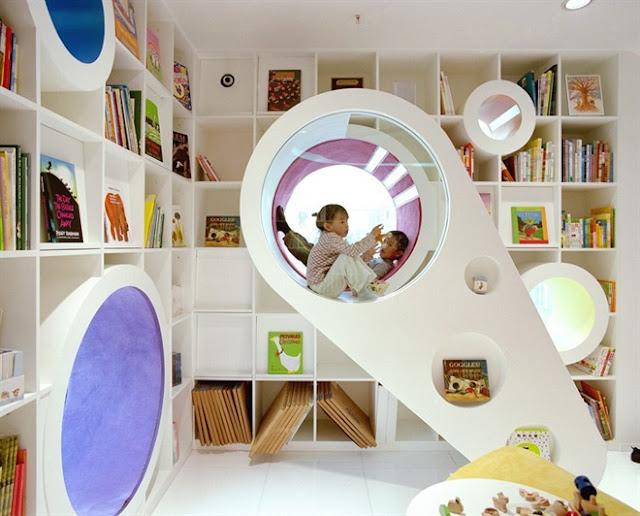 مكتبة الأطفال في الصين مكتبة رائعة بكل ألوان الطيف The-Kid-Republic-3