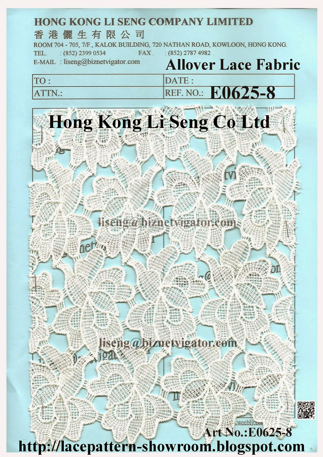 New Allover Embroidery Lace Fabric Manufacturer Wholesale Supplier - Hong Kong Li Seng Co Ltd