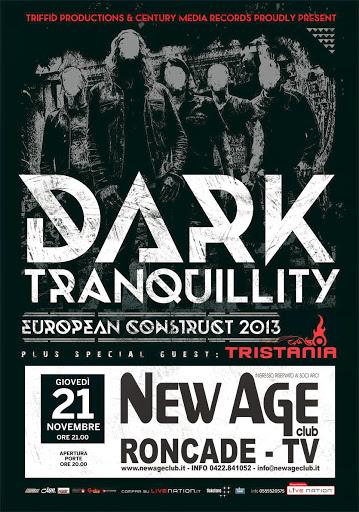 Dark Tranquillity / Tristania @ New Age Club, Roncade, Italie 21/11/2013